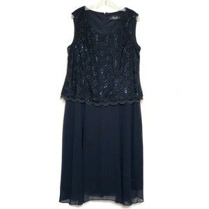 R & M Collection (18) Blue Formal Dress Beaded